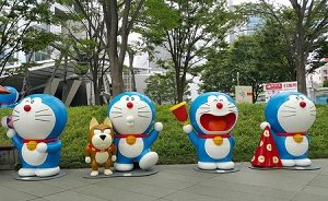 64808154 - roppongi tokyo, 18 july 2016 doraemon exhibition in open space